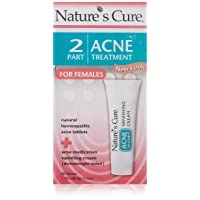 Nature's Cure Two-Part Acne Treatment System, for Women, 1 month supply (60 Tablets...