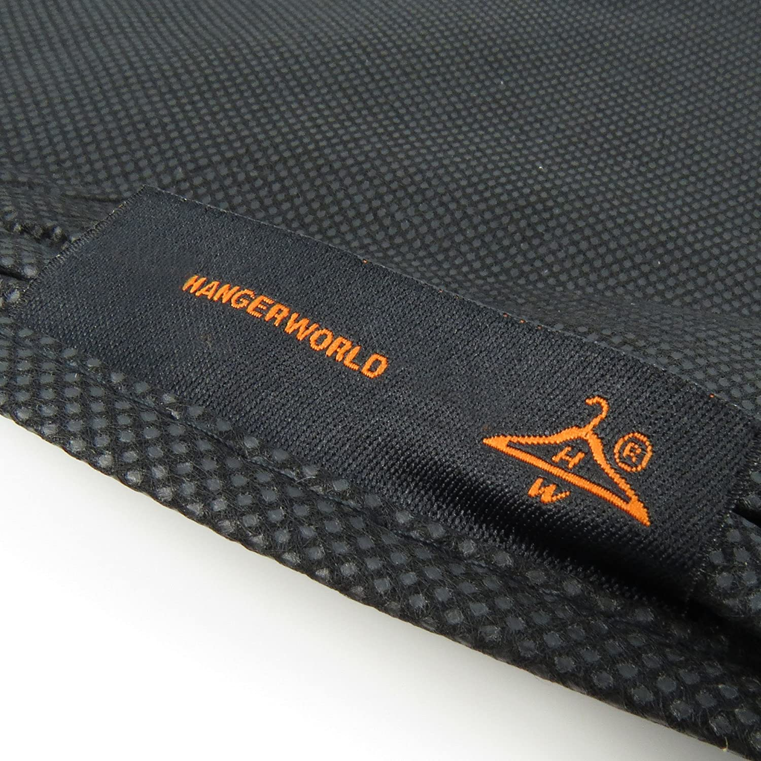 HANGERWORLD 5 Black Breathable 24inch x 12inch Gusset Shoulder Dust Dirt Protector Storage Cover Clothes Bags 4335517354