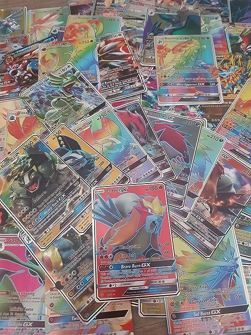 Nuevo Pokémon tcg: 100 Cartas 80pcs EX Cards & 20pcs Mega EX paquete de cartas