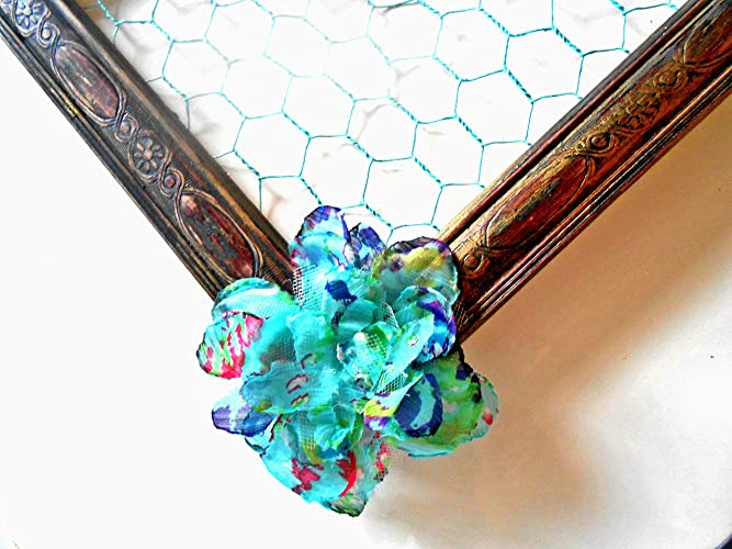 Amazon.com: Chicken Wire Frame, Repurposed, Upcycled, Distressed ...