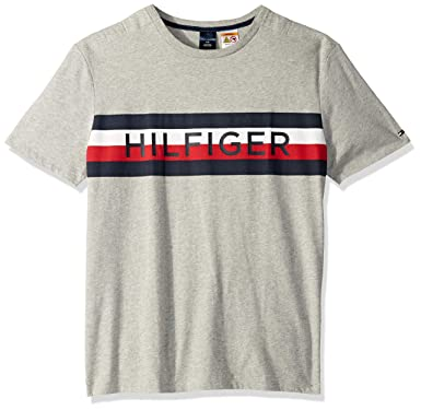 686147f0 Tommy Hilfiger Men's Adaptive T Shirt with Magnetic Buttons at Shoulders at Amazon  Men's Clothing store: