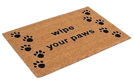 BirdRock Home Wipe Your Paws Coir Doormat | 24 X 36 Inch | Oversized  Welcome Mat