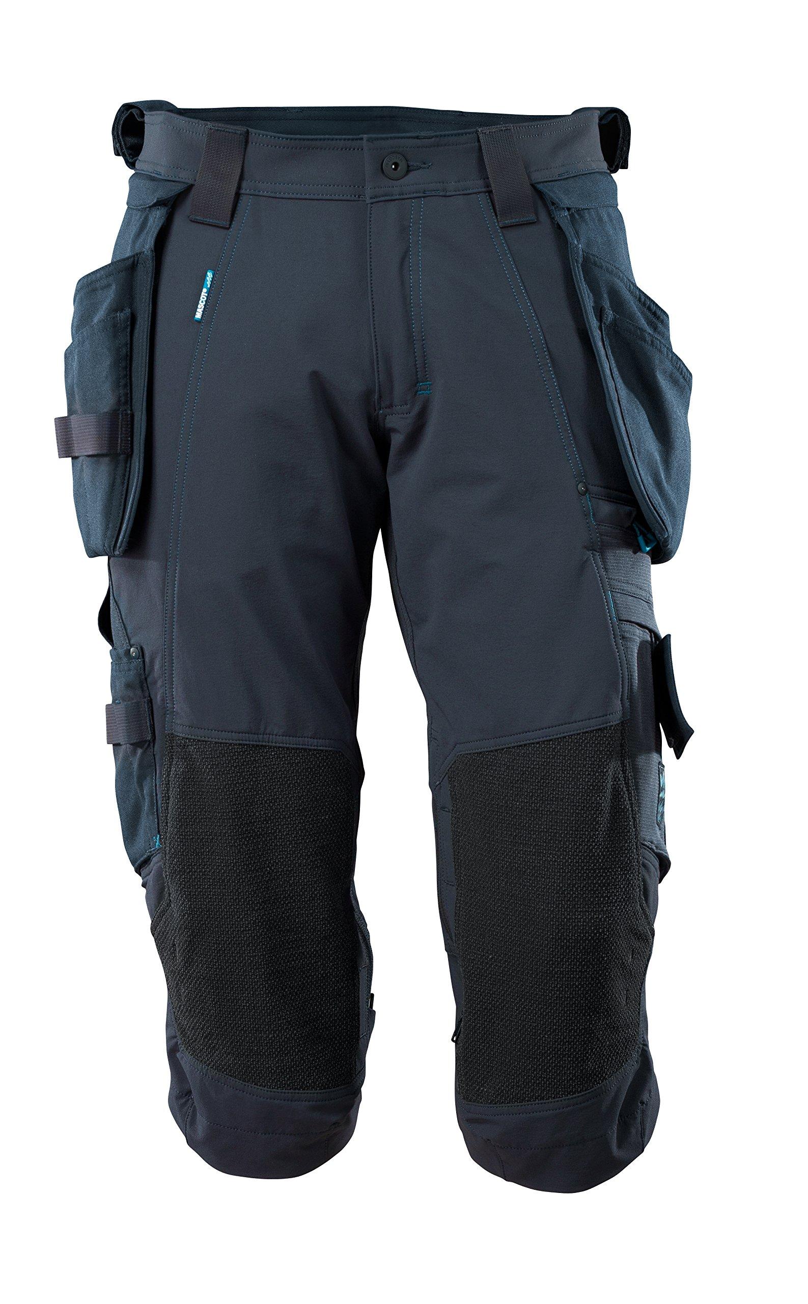Mascot 17049-311-010-C62 Stretch Shorts Size C62, Black/Blue