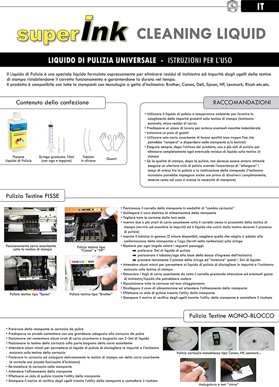 250ml Líquido Limpiador Universal superInk para Todos los ...