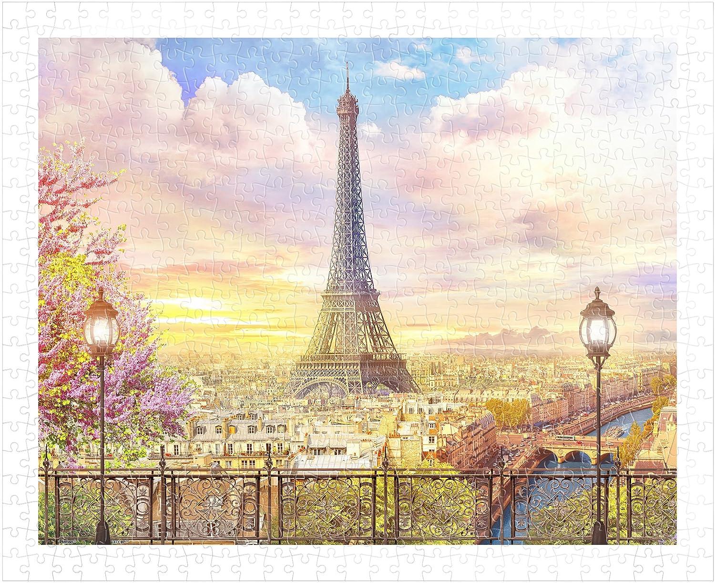 Pintoo  H1936  Romantic Paris  500 Piece Plastic Puzzle