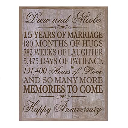 Amazon Com Personalized 15th Wedding Anniversary Gift For Couple