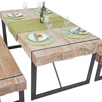 Mendler Esszimmertisch HWC A15 Esstisch Tisch Tanne Holz Rustikal Massiv 180x90cm