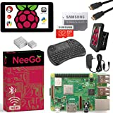 """Raspberry Pi 3 B+ (B Plus) Ultimate Kit – Complete Set Includes Raspberry pi Motherboard, 7"""" Touchscreen Display, Power Supply, 32GB SD Card, 2 Heatsinks, Official Case & 6ft HDMI Cable & Keyboard"""