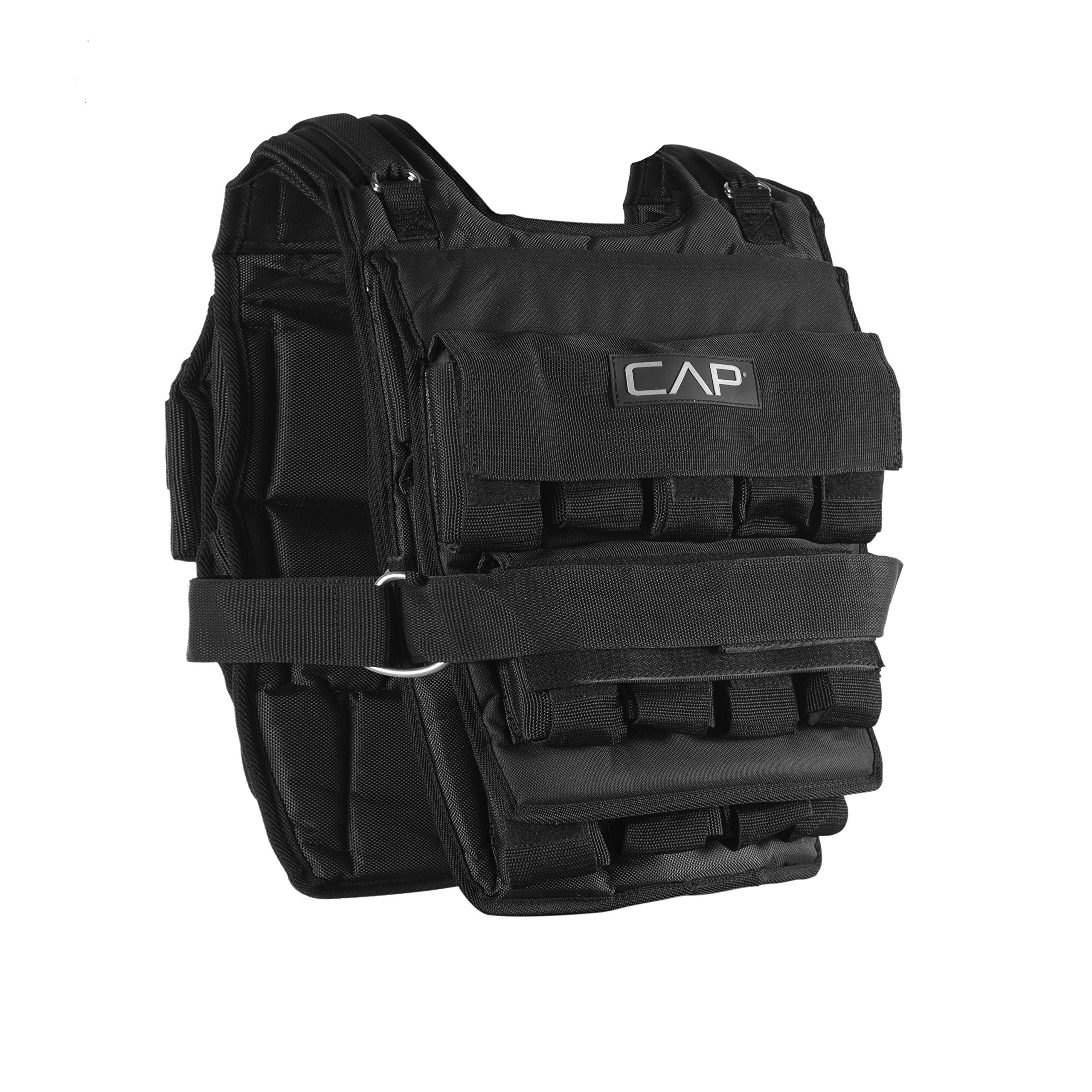 CAP Barbell Adjustable Weighted Vest, 150 lb by CAP Barbell
