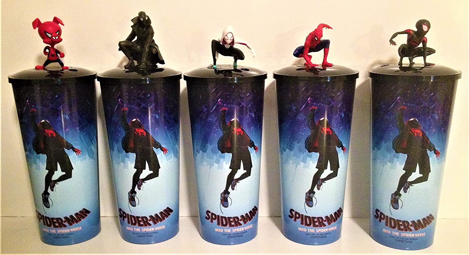 Spider-Man Into the Spider-Verse Movie Theater Exclusive Cup Topper Set With 44 oz Cups