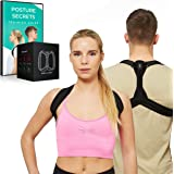 Posture Corrector for Women and Men - Posture Correction & Posture Support for Neck Shoulders and Back Pain Relief. High Quality Neoprene Posture Trainer/Posture Back Brace - Size (M) by FMI