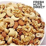 大粒3種 ミックスナッツ 1kg (新鮮生くるみ、素焼きカシュー、素焼きアーモンド)無添加 無塩 食物油不使用 チャック袋入り アシストフード