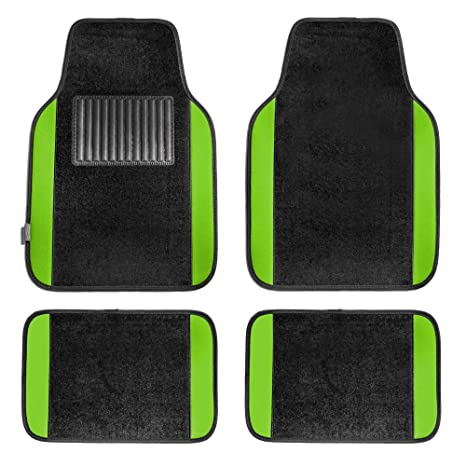 FH Group F14407GREEN Premium Full Set Carpet Floor Mat Sedan And SUV With Driver Heel