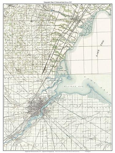 Amazoncom Toledo And Lake Erie Old Topographic Map USGS - Lake erie topographic map