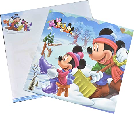 Birthday Cards Mickey Mouse Print Cartoon Character Designs New Born Baby Themed Party