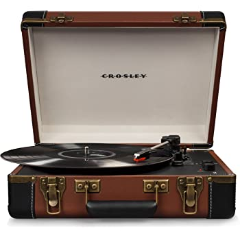 Crosley CR6019D-BR Executive Portable USB Turntable