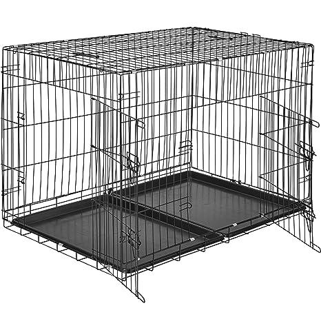 TecTake Perro Jaula rejilla caja caja de transporte | 2 puertas ...
