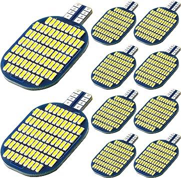 10PCS Super Bright 921 194 LED Light Bulb For RV, 78SMD 4014 Chipsets indoor T10 LED lights, 912 922 904 12V LED Lamp for RV Ceiling Marine Boat Motorhome Interior Dome Trailer Camper 6000K White