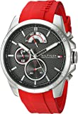 Tommy Hilfiger Men's 'COOL SPORT' Quartz Stainless Steel and Silicone Casual Watch, Color:Red (Model: 1791351)