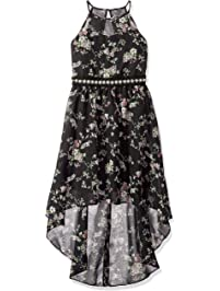 6229c4ccc2d Amy Byer Girls  Big High-Low Dress with Illusion Neckline