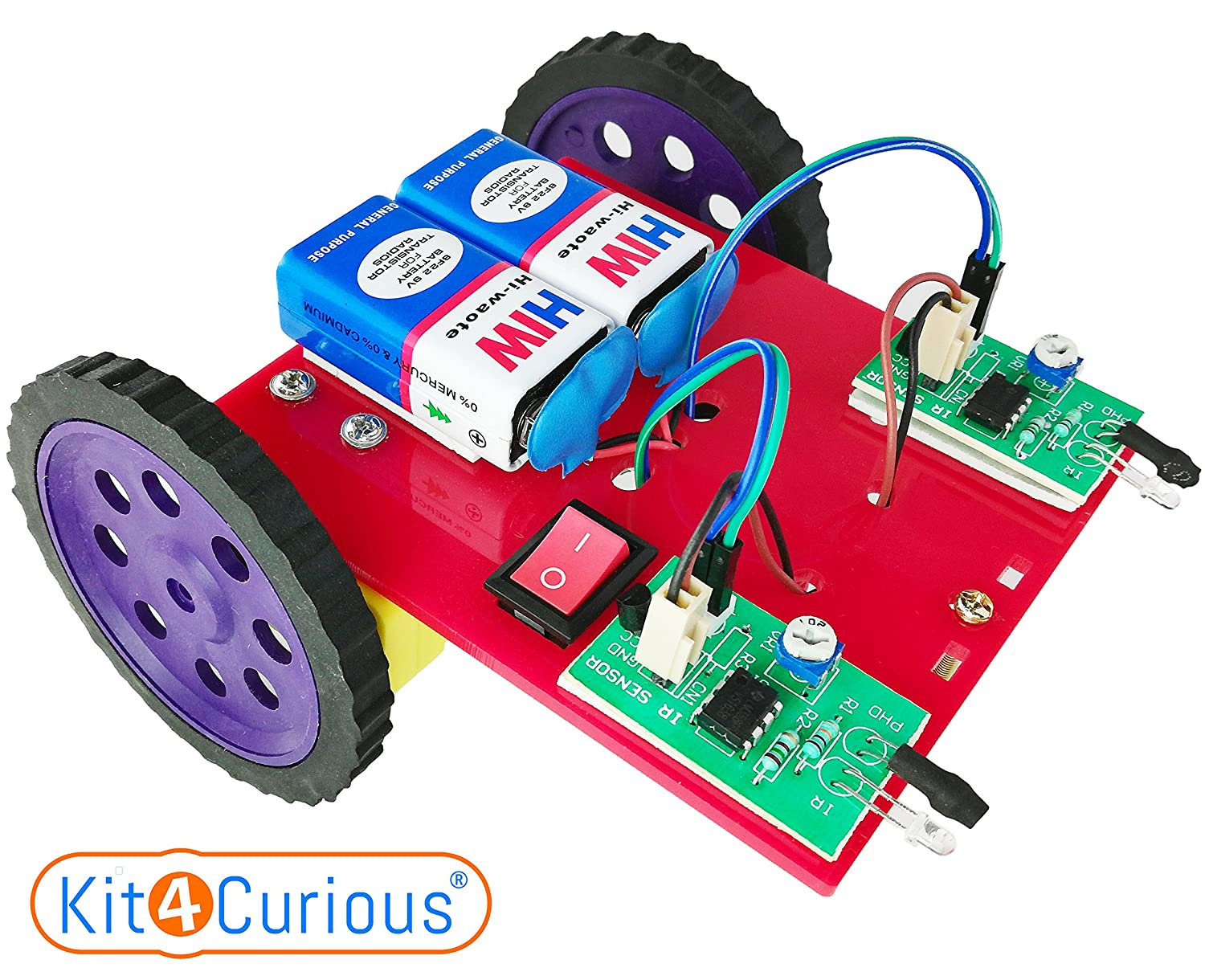 Buy Kit4curious 2in1 Robot Object Follower Avoider 2 Transistor Line Scary Cat Ready To Run Kit With Instruction Manual Online At Low Prices In India