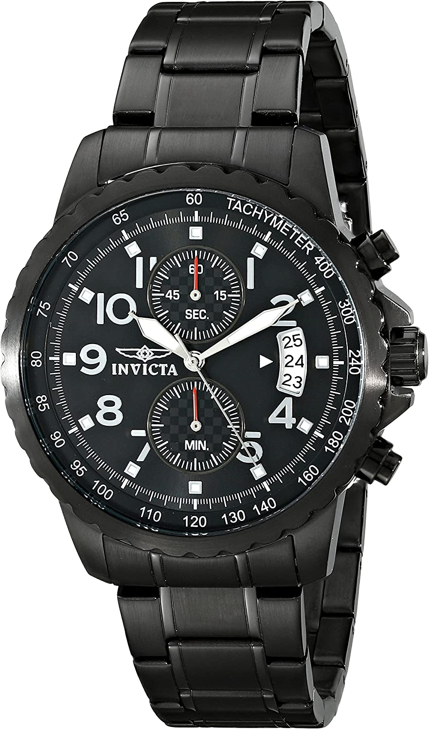 Invicta Men s 13787 Specialty Black Ion-Plated Stainless Steel Watch