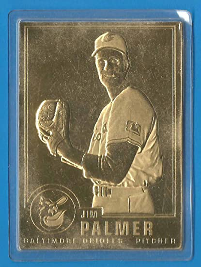 1996 Danbury Mint 22kt Gold Jim Palmer Laminated Baseball