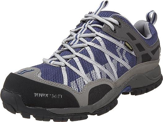 INOV8 Terroc 345 GTX Zapatilla de Trail Running Unisex, Gris/Azul, 36: Amazon.es: Zapatos y complementos