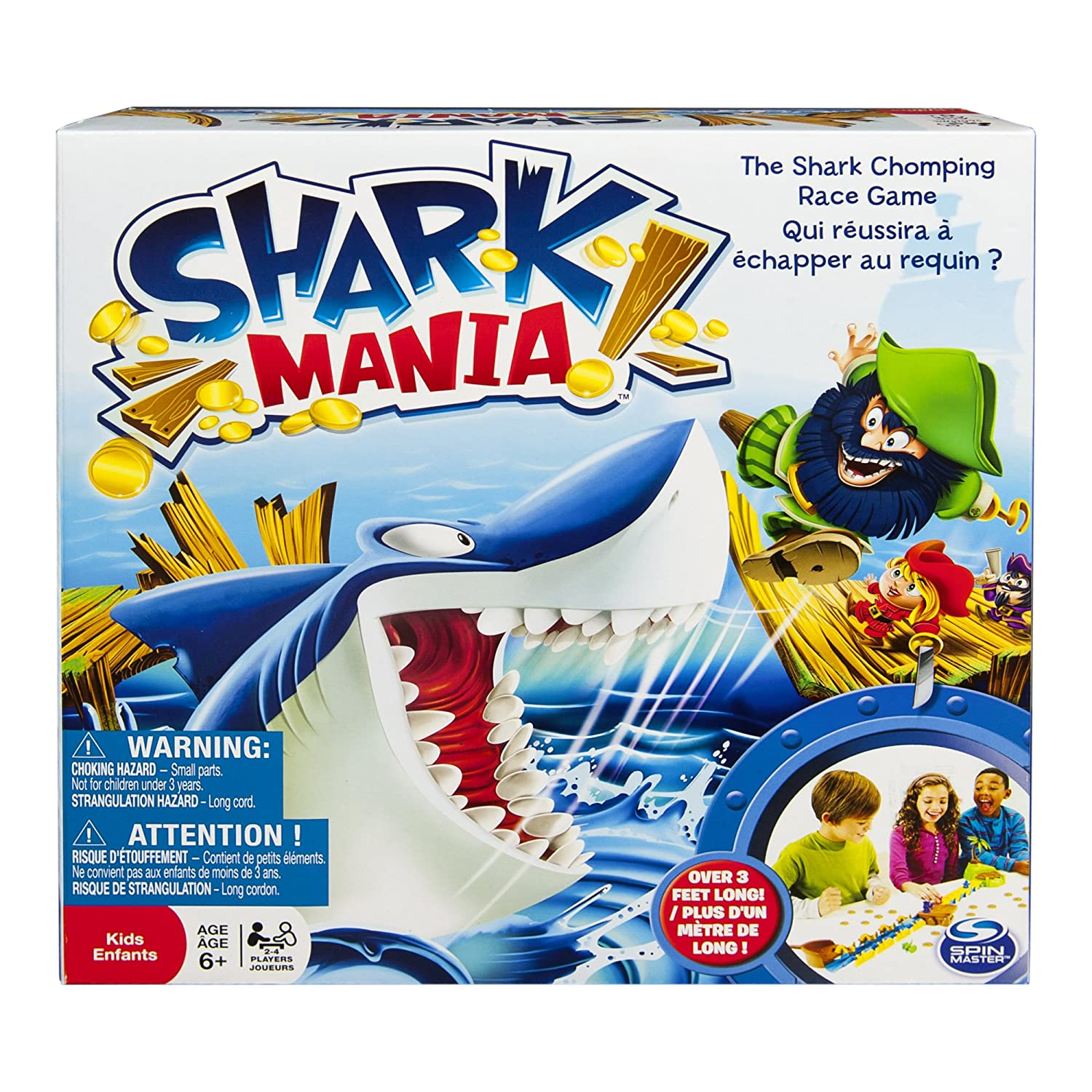 Amazon Spin Master Games Shark Mania Board Game Toys & Games