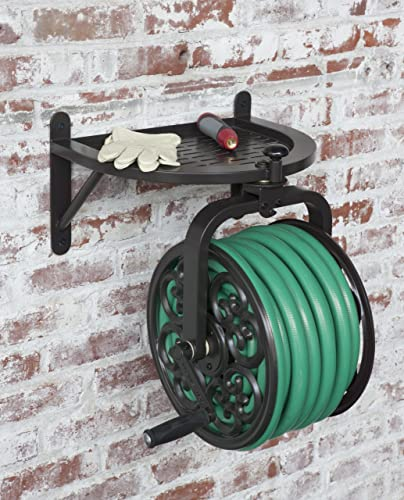 Liberty Garden Products 710 Navigator Rotating Garden Hose Reel, Holds 125-Feet of 5/8-Inch Hose - Bronze