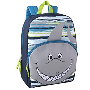 Animal Friends Critter Backpacks With Reinforced Straps (SHARK)