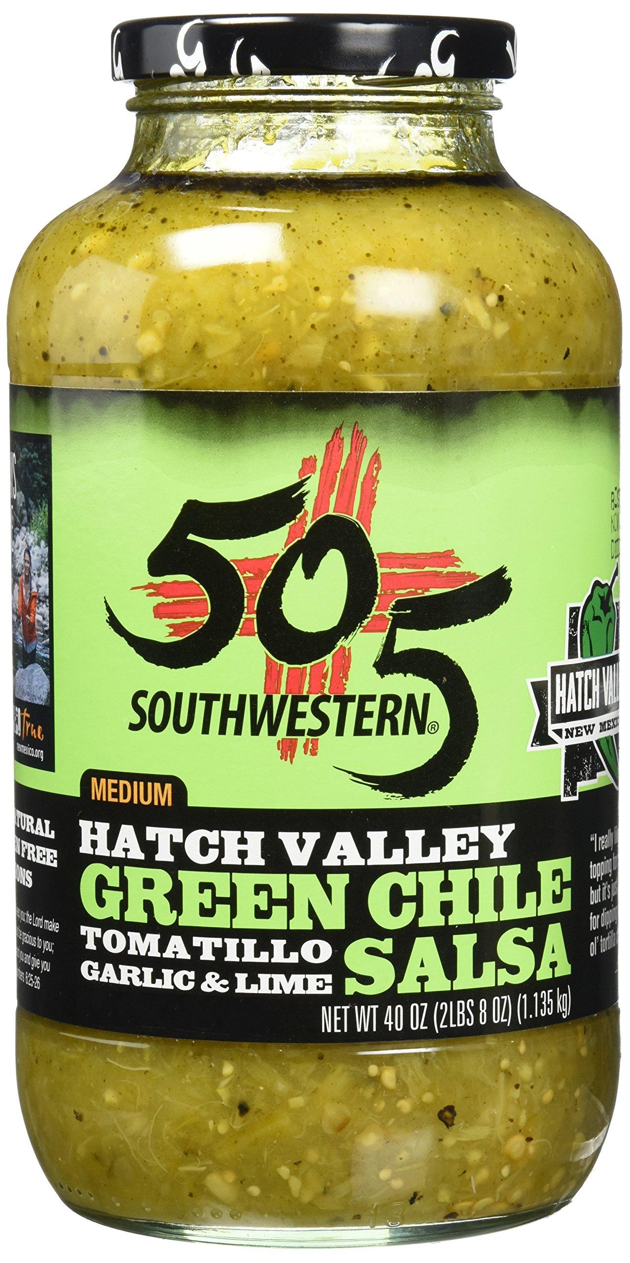 505 Southwestern Hatch Valley Green Chile Salsa 40 Oz by 505 Southwestern
