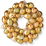 National Tree 12 Inch Easter Egg Wreath with Gold and Pearl Eggs (RAE-W030197A-1)