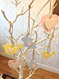 6 Wooden Easter tree decorations
