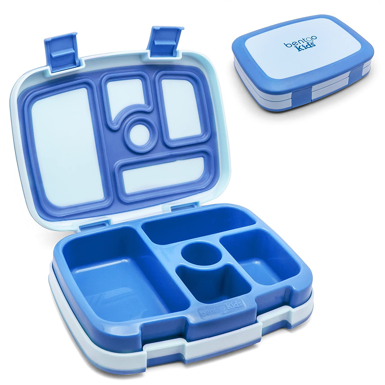 Bento-styled Lunch Solution Offers Durable, Leak-proof, On-the-go Meal and Snack Packing (Blue)