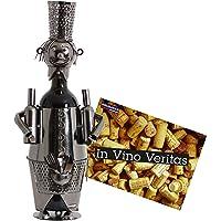 Brubaker - Porta-bottiglia a forma di barista, in metallo, perfetto da regalare