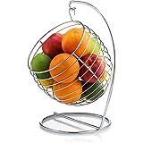 Francois et Mimi Swinging Fruit Tree Bowl Basket, Chrome