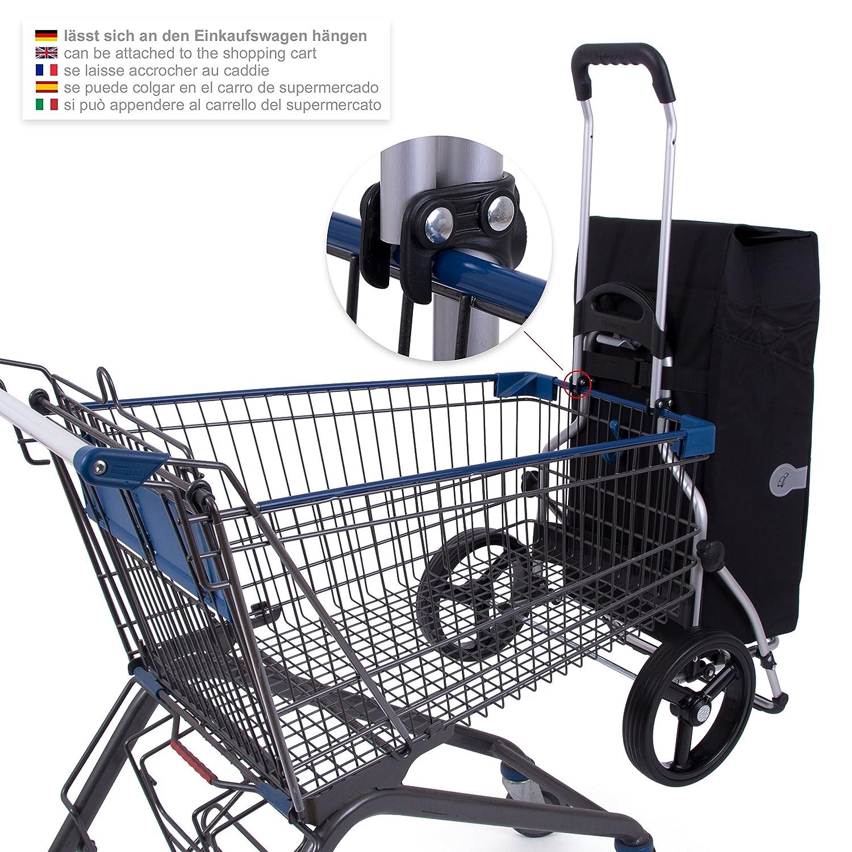 Andersen Einkaufstrolley Einkaufstrolley Einkaufstrolley Royal XXL mit 3-Speichenrad 25 cm und 45 Liter Einkaufstasche Asta schwarz mit Kühlfac, Gestell aus Aluminium klappbar B015G1X21G Einkaufstrolleys 80ca0e