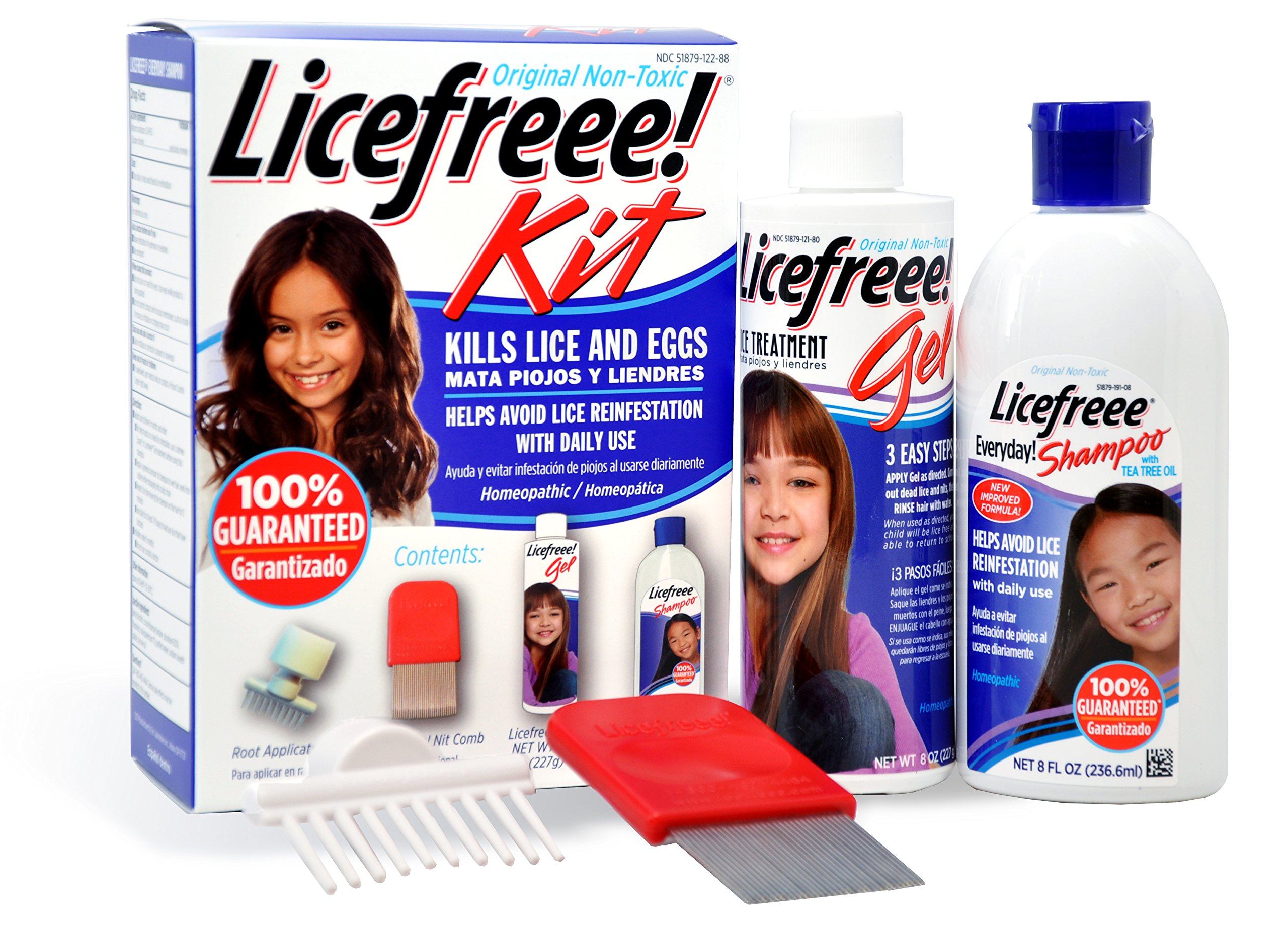 Licefreee Kit All-in-One Complete Lice Killing Treatment, Daily Maintenance Shampoo and Professional Nit Comb in One Box, 16 Fluid Ounce
