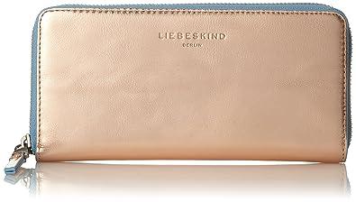fd5f902e37a041 Liebeskind Berlin Damen Gigif8 Cobloc Geldbörse, Rose Gold W. Blue, 3x10x21  cm