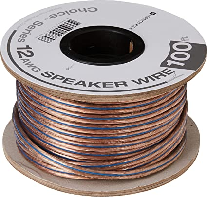 Monoprice 8ft 8AWG Enhanced Loud Oxygen-Free Copper Speaker Wire Cable