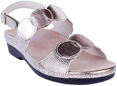 5317893446f Helle Fashion Comfort Women s TULA Gold Multi 2 Hook   Loop Slingback ...