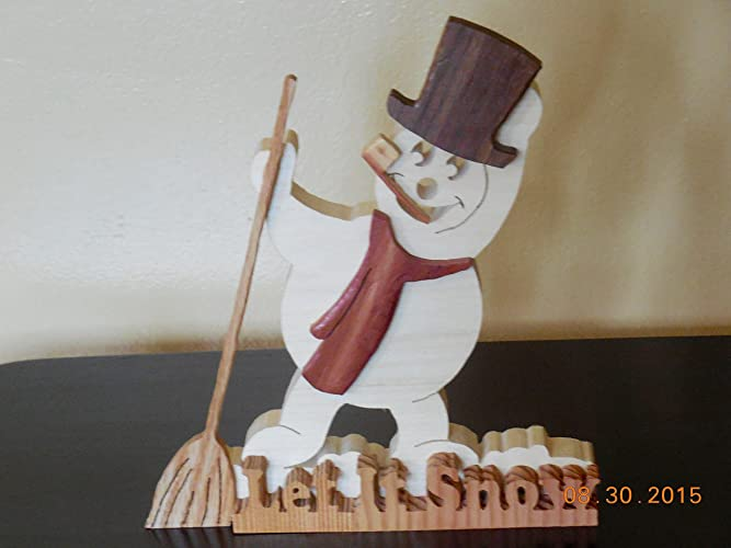 snowman decor snowman made of woodchristmas decorholiday decor