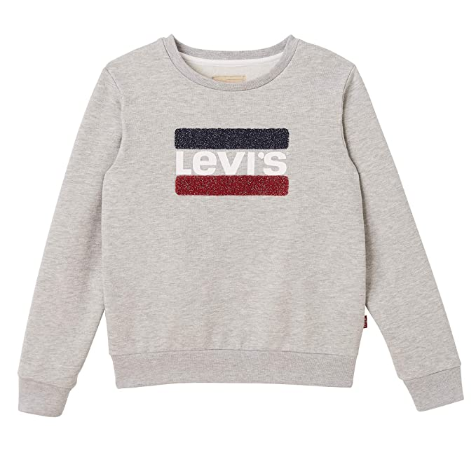 Levis kids Nn15527 22 Sweat Shirt, Sudadera Niñas, Gris (Light China Grey 22