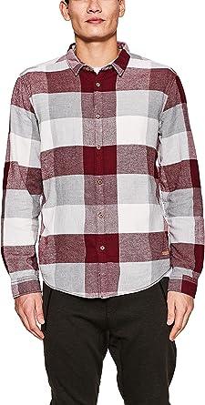 edc by Esprit 127cc2f005 Camisa, Rojo (Bordeaux Red 600), X-Large para Hombre: Amazon.es: Ropa y accesorios