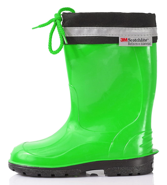 LEMIGO KIM Kinder Gummistiefel Regenstiefel Stiefel Regen Schuhe Farbe:Grün Größe:28