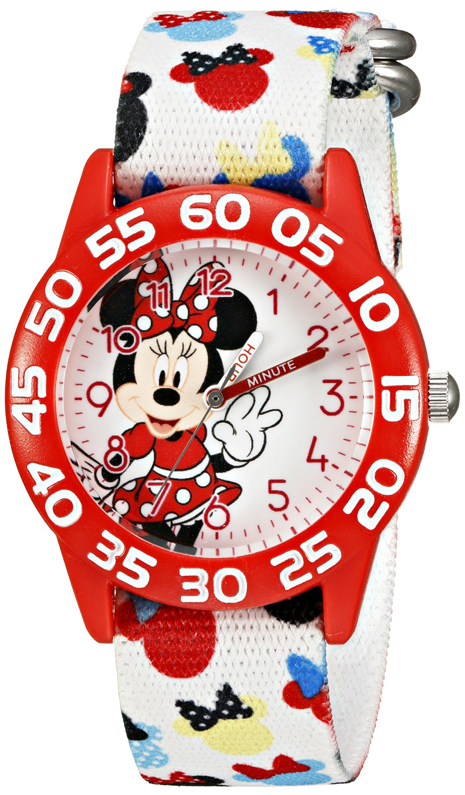 Disney Kids' W002374 Minnie Mouse Time Teacher Watch with Multicolor Band by Disney