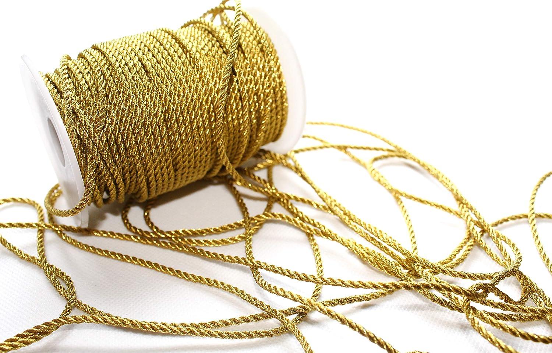 50m Cordoni 3mm di larghezza: Oro lucido