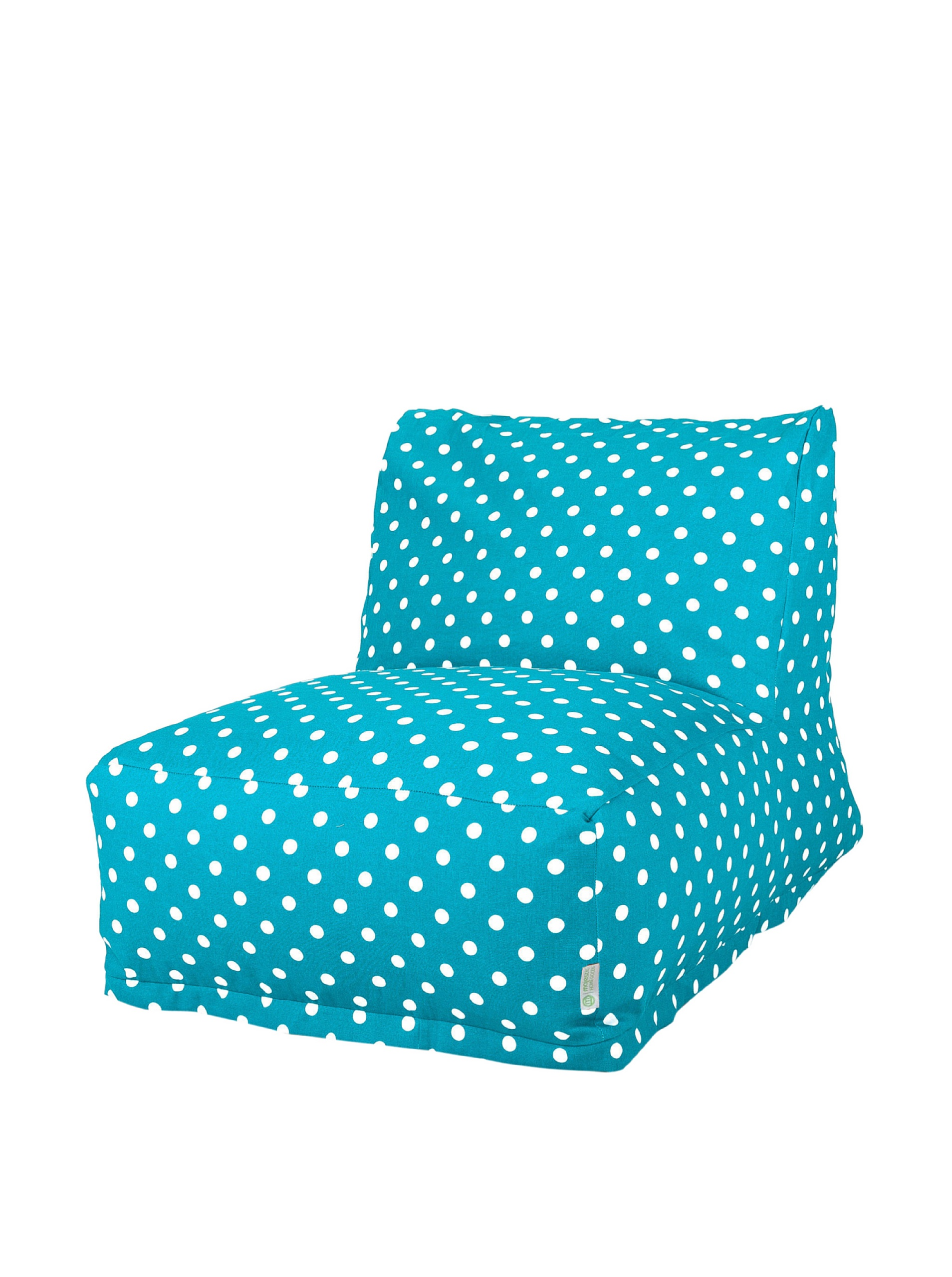 Majestic Home Goods Polka Dot Bean Bag Chair Lounger, Small, Blue