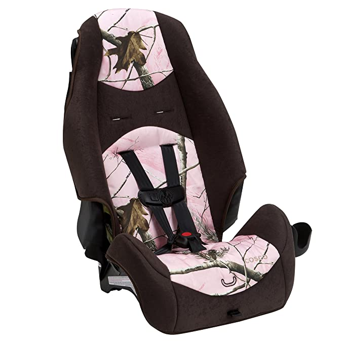 Cosco Machine Washable Fabric 5-Point Harness or Belt-positioning Highback 2-in-1 Booster Car Seat Pink